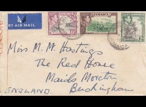 Jamaica 1940 Air Mail Kingston to England
