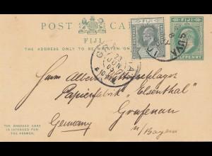 Fiji: post card 1903 to Grafenau