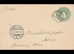 British Guiana, letter 1909 to Dieburg/Hessen