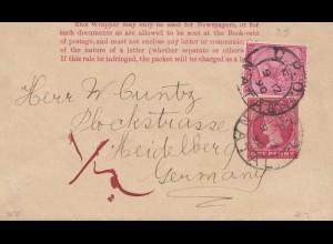 Natal: 1890: letter to Heidelberg
