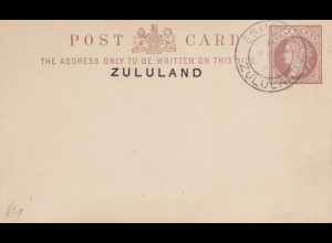 Zululand: post card Eshowe 1894