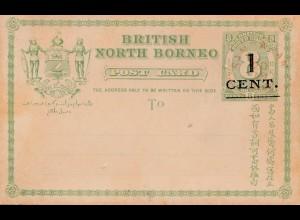 British North Borneo: post card 1882
