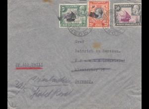 Uganda: 1937: Letter Moshi to Germany