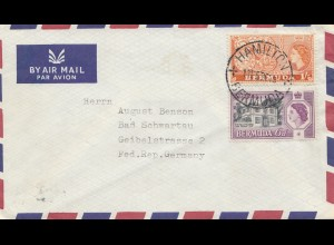 Bermuda: 1981: air Mail Hamilton to Bad Schwartau