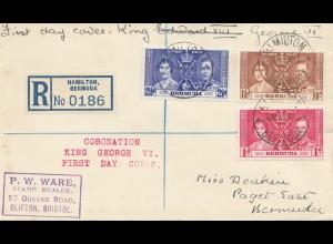 Bermuda: 1981: air Mail Hamilton FDC King George VI