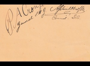 St. Helena. post card with signature of captures General Boers (Buren)