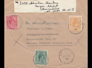 St. Kitts Nevis: air mail St. Kitts to Oberland/Germany