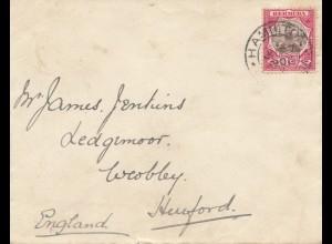 Bermuda: 1903: Hamilton to England