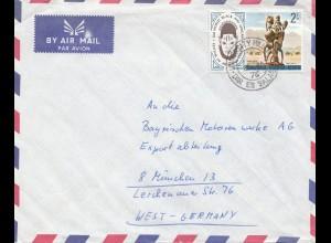 Tanzania: Dar Es Salaam Air Mail 1976 to BMW München