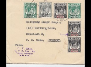 Malaya: Kuala Lumpur, 1948: to Marburg, Germany