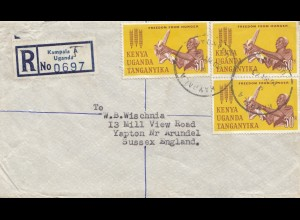 Uganda: 1963: Registered Kampala to Sussex/England
