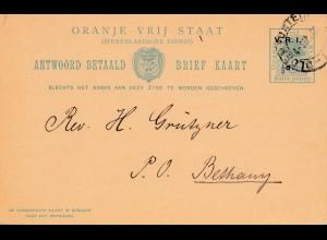 Oranje Vrij Staat, 1903: postcard to Bethany