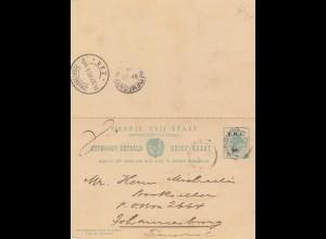 Oranje Vrij Staat, 1905: postcard to Johannesburg