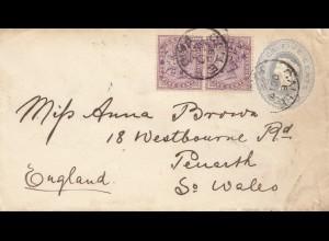 Ceylon: 1892: letter Calle to Penarth/So. Wales