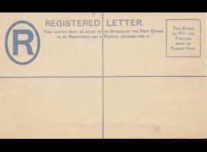 Ceylon: Registered letter C8, unused