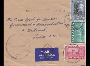 Malaya: Air Mail Kuala Lumpur to London 1965