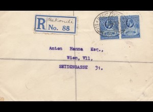 Gold Coast: 1930: Registered Sekondi to Vienna/Austria