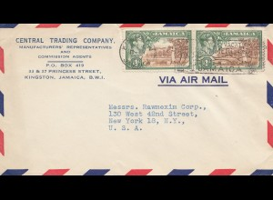Jamaica: 1947 letter Kingston to New York