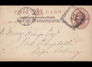 cape of good hope: 1895 post card Dryburg via Midland down to Port Elizabeth