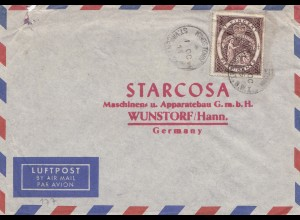 St. Vincent: Air Mail 1955 to Wunstorf/Germany