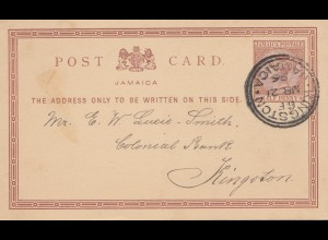 Jamaica: 1896 post card Kingston local