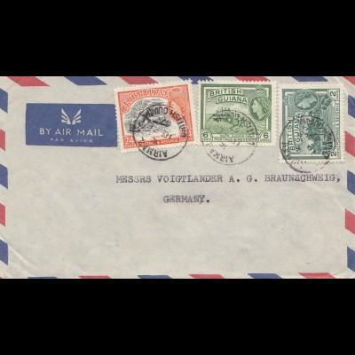 British Guiana: Air Mail 1957 to Braunschweig