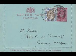 Transvaal 1905Johannesburg-DOA: S.S. Admiral, Lourenes Marques/Correio Ambulante