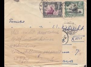 Uganda: 1937: Tanga to Vienna/Austria