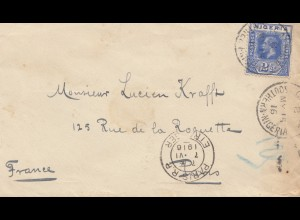 Nigeria: 1916: letter to Paris