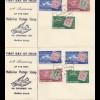 Maldive Islands - 2x FDC 1961 - 55th Anniversary of postage stamp