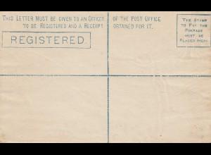 Ceylon: unused registered letter C2; 15 cents