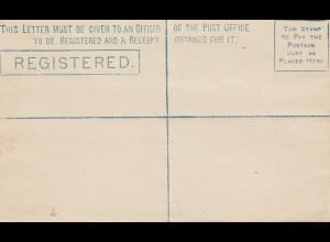 Ceylon: C2 unused registered letter