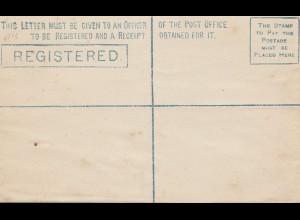 Ceylon: C5 unused registered letter