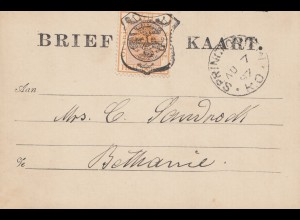 Vrij: Brief Kaart 1897 to Bethanie