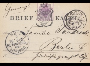 Vrij: Brief Kaart 1896 to Berlin