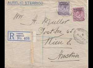 Morocco: Registered Tangier 1922 to Wien/Austria