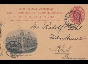 Cape Town: 1908: post card to Kiel/Germany