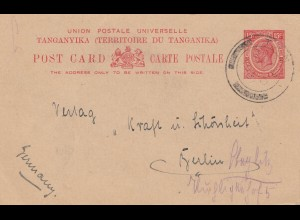 Tanganyika / Kenia/Uganda post card 1931 to Berlin
