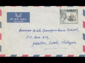 Sabah: Air Mail St. Patrick School to Gesselton