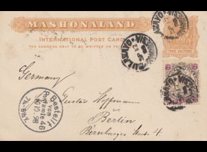 1898: post card Mashonaland to Berlin