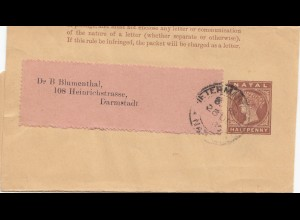 Natal: Wrapper 1900 to Darmstadt/Germany