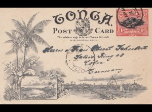 Tonga: post card to Köln