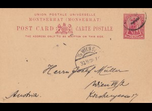 Montserrat: post card 1908 to Wien