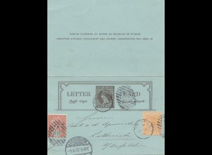 Ceylon: 1897: letter card to Lobberich