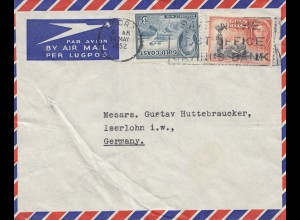 Gold Coast: Air Mail 1952 to Iserlohn