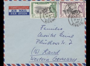 Nigeria: 1959 Air Mail to Kassel