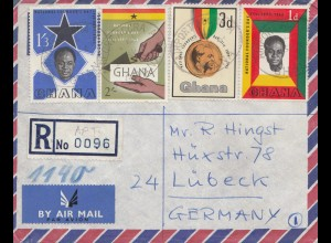 Ghana: Registered Airport Accra to Lübeck 1962