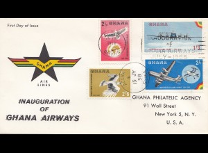 Ghana: 1958: Ghana Airways FDC to New York