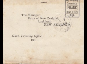 Fiji: wrapper to New Zealand, by authority Government Frank; O.H.M.S. on top