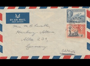 Gold Coast: 1950 Air Mail to Hamburg